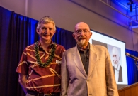 W. M. Keck Observatory Director Hilton Lewis (left) with Dr. Kip Thorne (right).