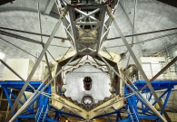 A wide angle view of the ten meter Keck mirror. - Ethan Tweedie