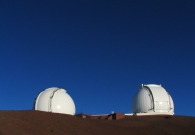 Keck I (right) and Keck II (left) domes at Mauna Kea. - W. M. Keck Observatory