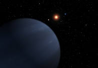 This artist's concept shows four of the five planets that orbit 55 Cancri, a star much like our own. - NASA/JPL-Caltech